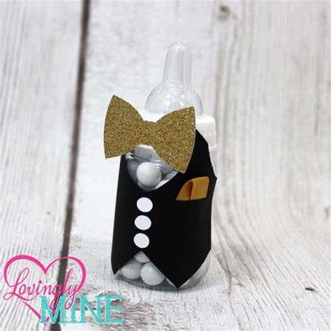 bow tie baby shower theme bow tie baby shower baby bottles favors in the