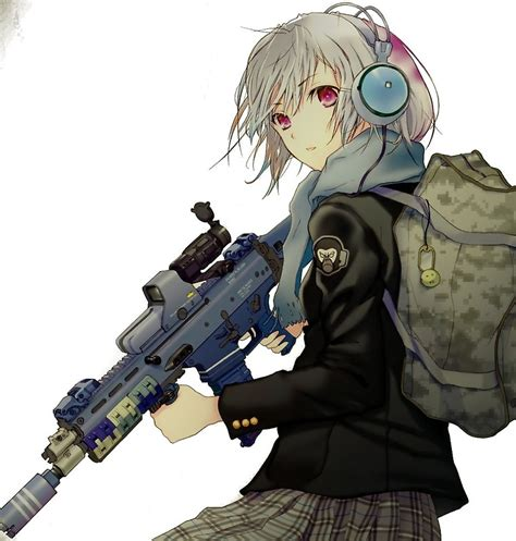 anime gun girl  kawaiibruh redbubble