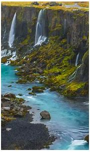 Sigalda Iceland Lekafossar Falls Android Wallpapers For ...