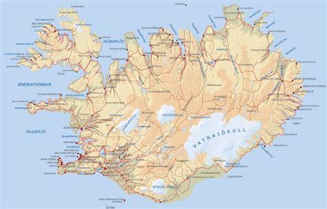ilots cuisine carte géographique islande carte en relief et topographique