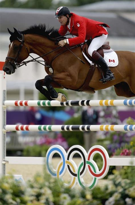 olympics equestrian jumping horse horses london olympic ian jump millar star summer power jumper canada falls games competition hunter cross