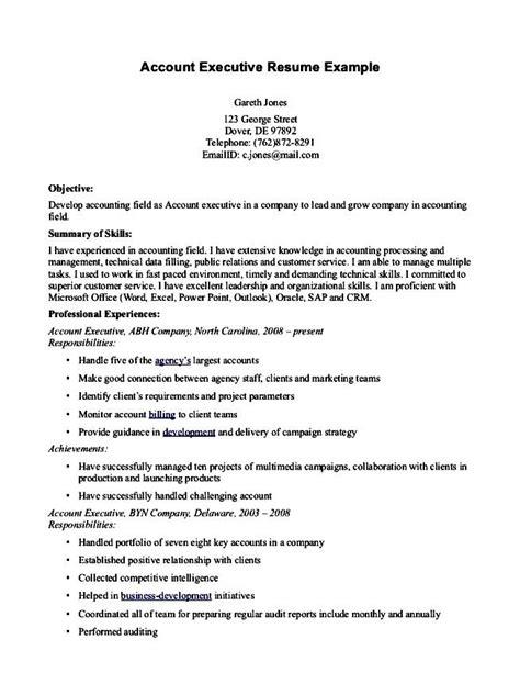 18210 account executive resume business account executive resume free sles