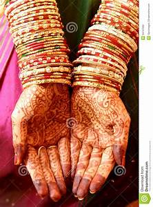 Henna Hands and Bangles stock photo. Image of function ...