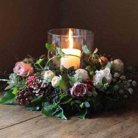table wreath flaming petal blog