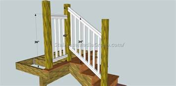 Deck Railing Post Height by Staircase Railing Height Code Best Staircase Ideas