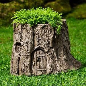 Fairy Garden Tree Stump Planter - The Green Head