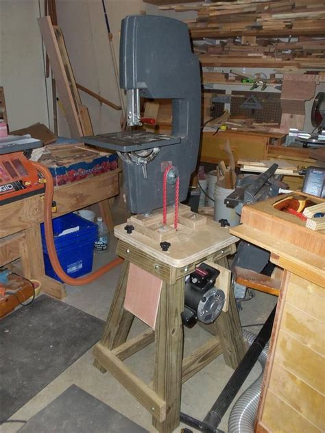 shopsmith bandsaw shop built power stand workshop