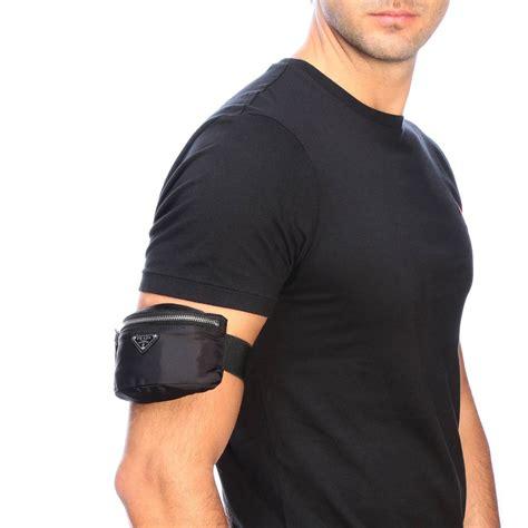 prada mini wrist pouch  nylon  triangular logo belt bag prada men black belt bag prada
