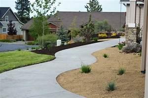 Diseño Jardin Cesped Cemento Casa diseño