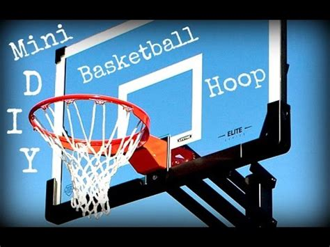 diy mini basketball hoop youtube