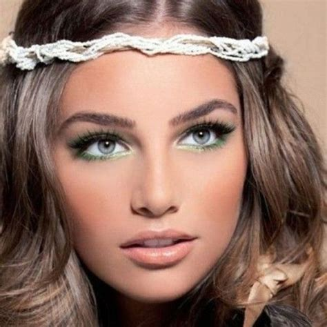 boho fashion  summer  boho chic makeup ideas
