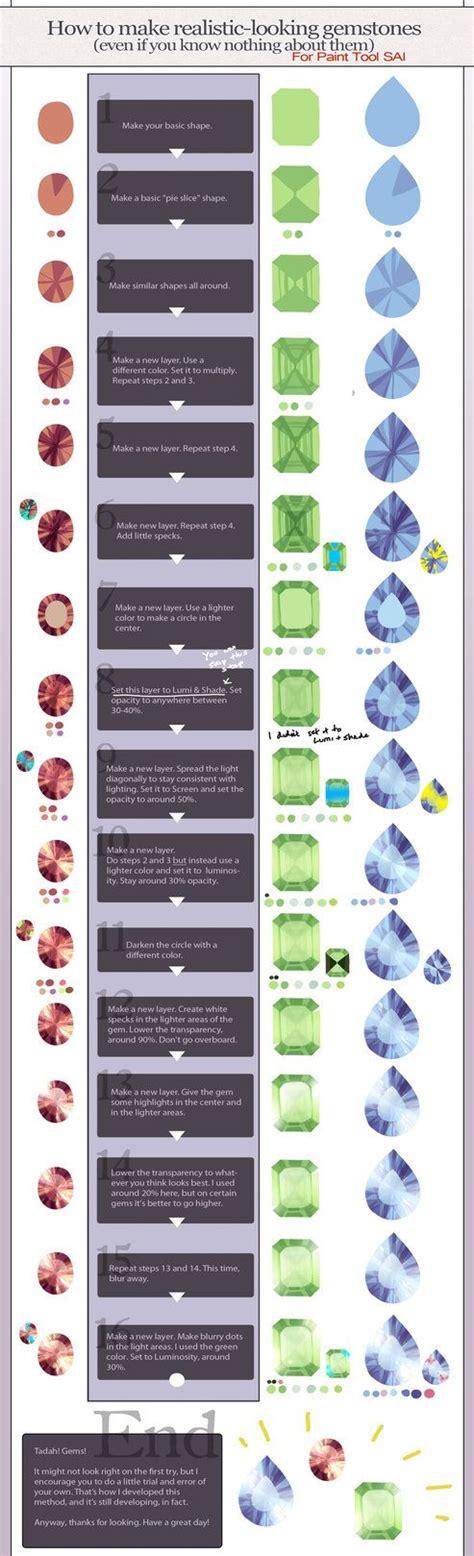 realistic gemstone tutorial paint tool sai by