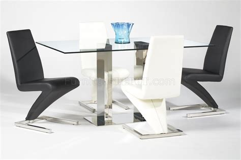 rectangular glass top modern dining table w optional side