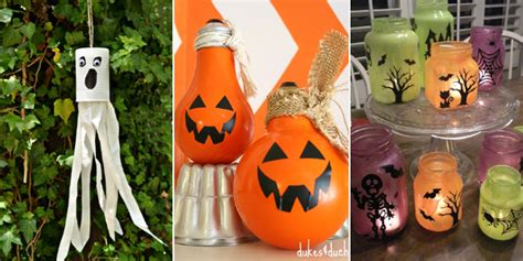 great halloween crafts   recycled materials