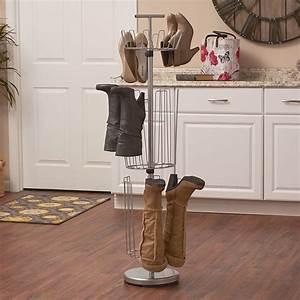 3, Tier, Shoe, Boot, Storage, Organizer, Rotating, Carousel, Rack, Closet, Entryway, Office, 6954297978297