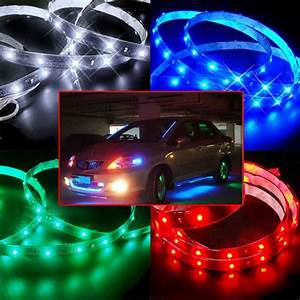 Neon Led 12v : 30cm 60cm 120cm 3528 smd led car motor neon strip light flexible waterproof 12v ebay ~ Medecine-chirurgie-esthetiques.com Avis de Voitures