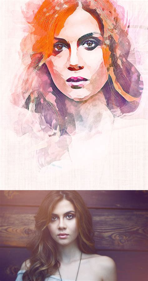 artistic watercolor sketch effect photoshop actions