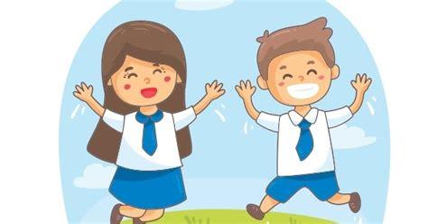 template kartun anak smp cdr guru corel