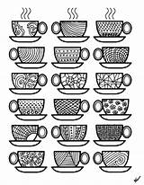 Coloring Coffee Pages Cups Colouring Adult Printable Sheets Adults Printables Theme Popsugar Para Colorear Stress Help Momsandcrafters Feel Kid Again sketch template