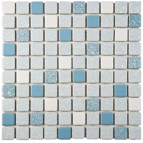blue mosaic tile merola tile crystalline square blue 11 3 4 in x 11 3 4 in