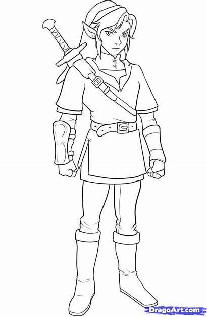 Zelda Coloring Dragoart Steps Imgs Draw Link