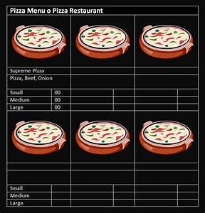 15 free restaurant and cafe menu templates for word With pizza menu template word