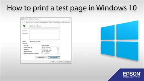 How To Print A Test Page Windows 10