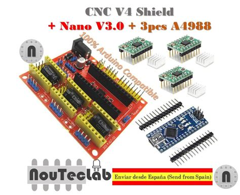 nano v3 0 cnc shield v4 expansion board 3pcs a4988