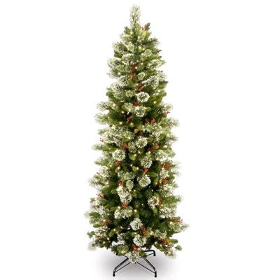 national tree company 7 6 quot pre lit and decorated artificial wintry pine christmas tree national