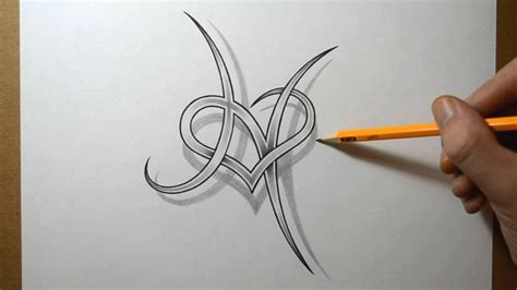 Designing A Letter H With A Heart Combined Youtube