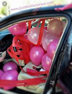 "8 Pink ""Happy Birthday "" balloons in limo Balloons then"