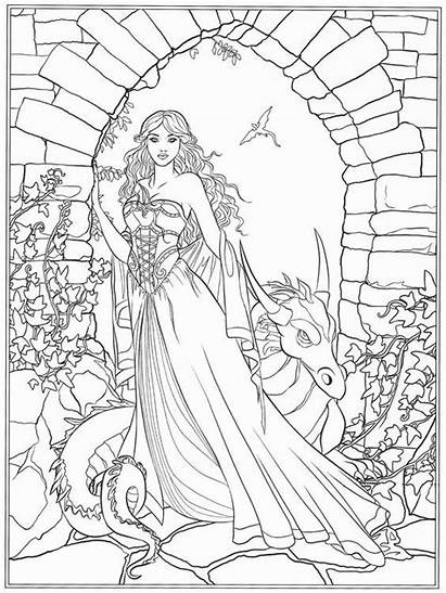 Coloring Fantasy Dark Pages Selina Fenech Gothic