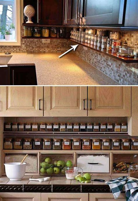 inexpensive kitchen storage ideas   tidy kitchen
