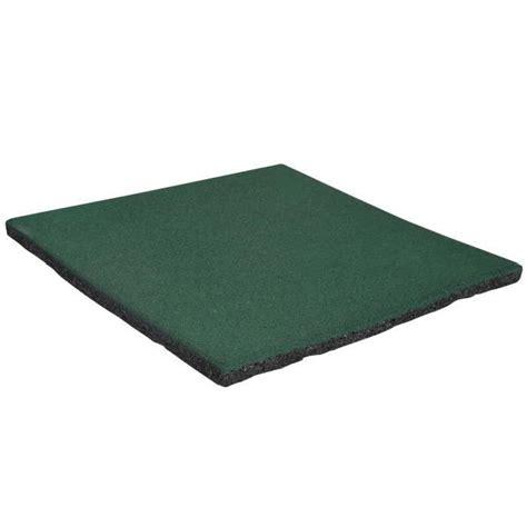 sol en caoutchouc exterieur dalle amortissante en caoutchouc vert 50x50cm p achat vente dallage dalle amortissante en