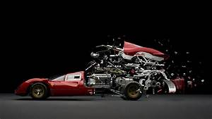 Abstract  Car  Sports Car  Parts  Mechanics  Ferrari  Exploded View Diagram  Composite