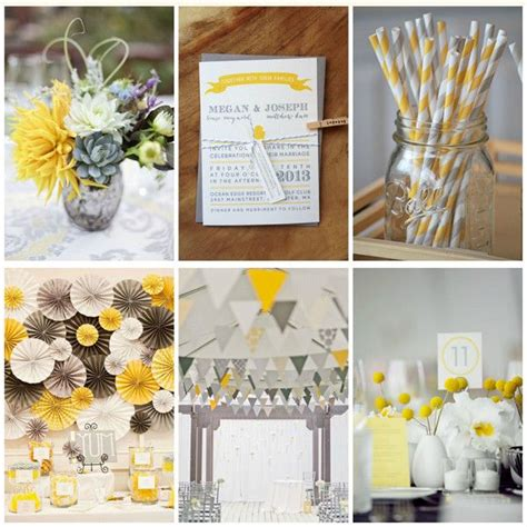 idee deco baby shower id 233 es d 233 co mariage jaune blanc et gris style tables and wedding