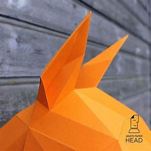 03 Papercraft Horse Head Printable Digital Template C How To