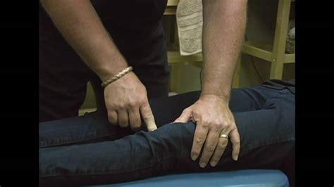 chiropractic knee adjustment demonstration  austin