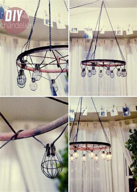 awesomely creative diy crafts  purposing bike rims