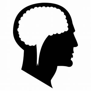 Vector for free use: Man's head silhouette