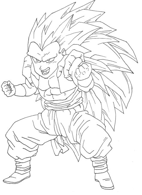 goten super saiyan coloring pages   print