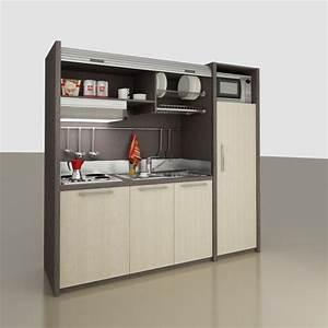 Cuisine pour studio comment l39amenager for Meuble cuisine petit espace