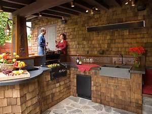 Outdoor rustic kitchen designs lighting