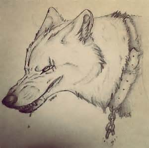 Drawings of Wolves Growling