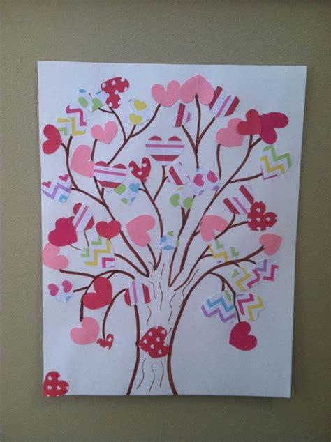 kid valentines tree  cut  size hearts