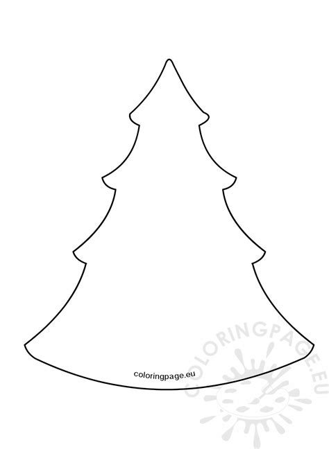 simple christmas tree pattern coloring page