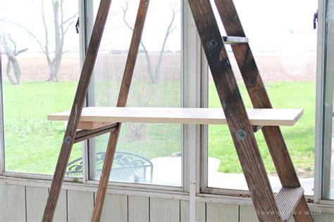 Antique Ladder Shelving