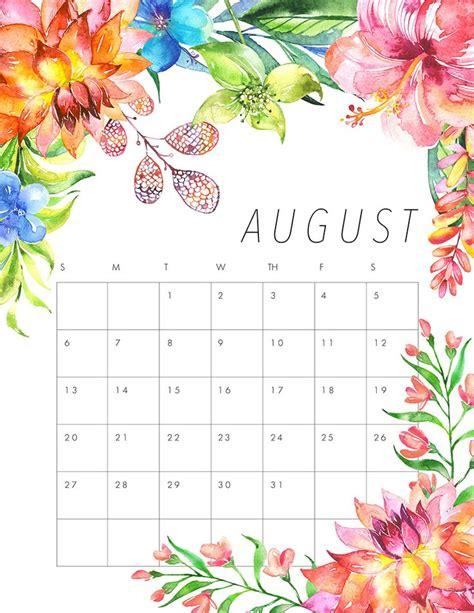 cute calendar august 2018 calendar monthly printable calendar
