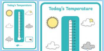 todays temperature thermometer display recording sheet