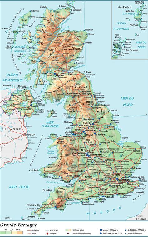 Carte Du Royaume Uni Sans Les Villes by Carte Du Royaume Uni D 233 Couvrir Plusieurs Cartes Du Pays